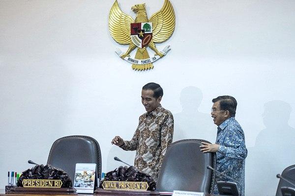 Presiden Joko Widodo dan Wapres Jusuf Kalla