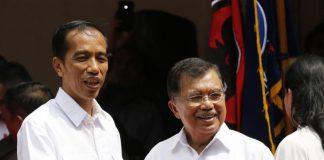 Presiden RI Joko Widodo dan wakil Jusuf Kalla