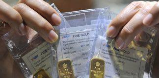 Emas produksi PT Aneka Tambang