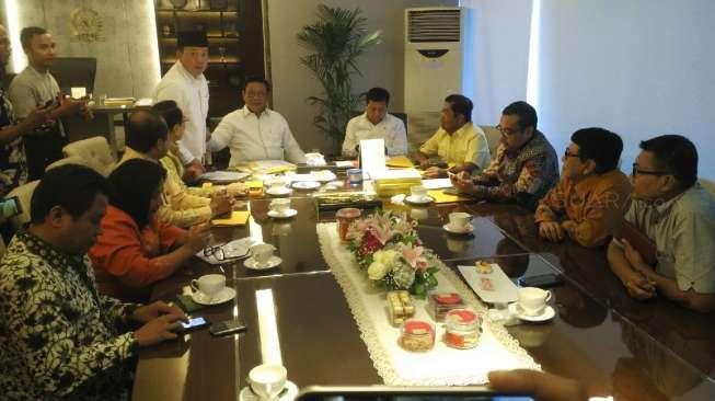 Sejumlah politikus senior Partai Golkar mengikuti Rapat Akbar Dewan Pakar.