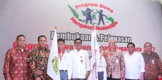 Telkom dan Krakatau Steel Lepas 20 Siswa Banten ke Lampung