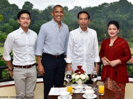 Keluarga Jokowi dan Obama