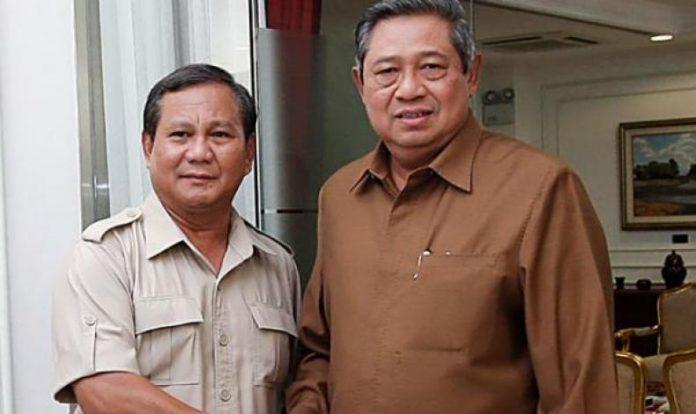 Prabowo Subianto dan SBY.