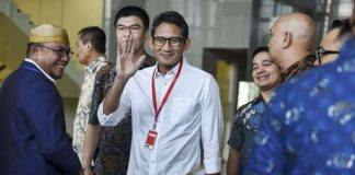 Sandiaga Uno datang ke KPK untuk diperiksa sebagai saksi korupsi Universitas Udayana.