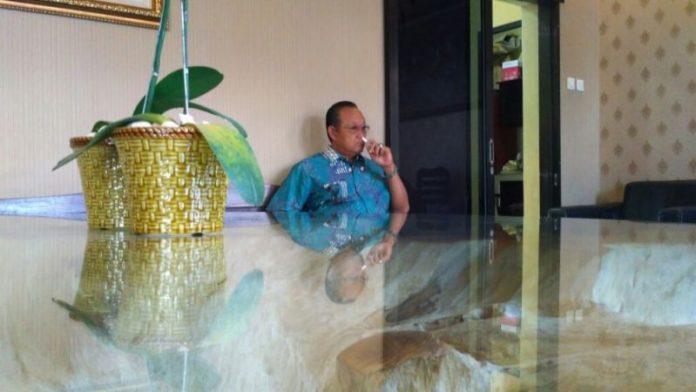 Wakil Wali Kota Mojokerto Suyitno saat di Mapolresta Mojokerto