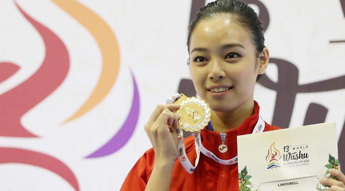 Atlet wushu Indonesia Lindswell Kwok