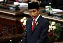 Presiden Joko Widodo menyampaikan pidato kenegaraannya di Sidang Tahunan MPR bersama DPR RI dan DPD.