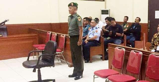 Brigjen Teddy diadilli di Pengadilan Militer II Jakarta