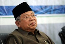 Ketua Umum Majelis Ulama Indonesia (MUI) yang juga Rais Aam Nahdlatul Ulama (NU) KH Ma'ruf Amin