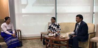 Menteri Luar Negeri RI Retno LP Marsudi bersama Dubes RI Ito Sumardi Djanisanyoto.