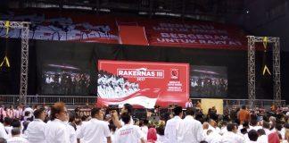 Presiden dalam pidatonya saat pembukaan Rakernas III Pro Jokowi (Projo) relawan pendukungnya di Britama Sport Mall, Kelapa Gading, Jakarta Utara