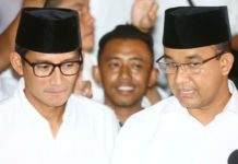 Gubernur dan Wagub DKI Jakarta Anies Baswedan-Sandiaga Uno