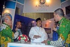 Wakil Gubernur Jatim Drs.H. Saifullah Yusuf Saat Memberikan Sambutan Muker HIMPUH Internasional Travel Mart (Hitmart) di Hotel JW Marriot Surabaya, Selasa (101/10/2017).