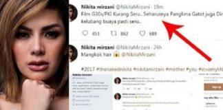 Bikin Status Diduga Hina Panglima TNI, Akun Twitter Nikita Mirzani Dilaporkan ke Polisi