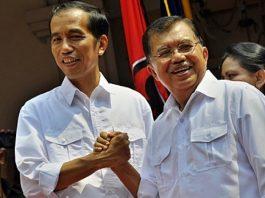 Presiden RI Joko Widodo (Jokowi) dan Wakil Presiden RI Jusuf Kalla (JK)