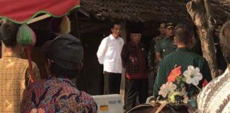 Presiden Joko Widodo meninjau langsung geladi kotor kirab pengantin Kahiyang Ayu dan Bobby Nasution