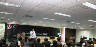 Wagub Jatim Drs.H. Saifullah Yusuf Saat Menghadiri Seminar Nasional 2017 di Universitas Pelita Harapan (UPH) Surabaya, Selasa (21/11/2017).