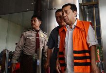 Tersangka Kasus Korupsi e-ktp Setya Novanto.