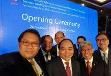 Wefie Acara ASEAN ICT Minister Meeting.