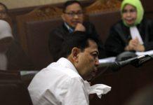 Terdakwa kasus dugaan korupsi KTP elektronik Setya Novanto