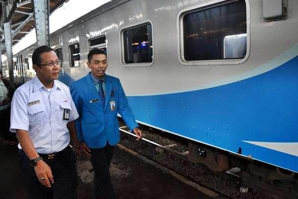 Direktur Utama PT Kereta Api Indonesia (KAI) Edi Sukmoro