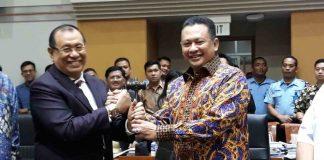 Ketua DPR Bambang Soesatyo lantik Kahar Muzakir jadi Ketua Komisi III.