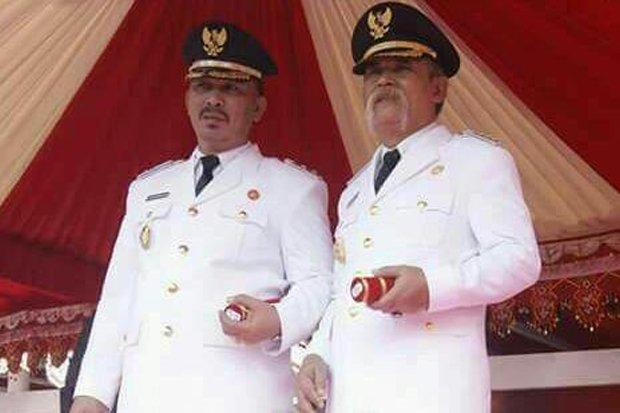 Bupati Tolitoli Mohammad Saleh Bantilan dan wakilnya Abdul Rahman