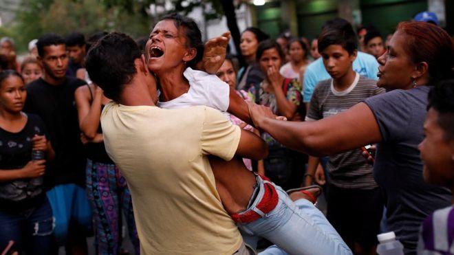 Suasana Kebakaran Di Penjara Venezuela