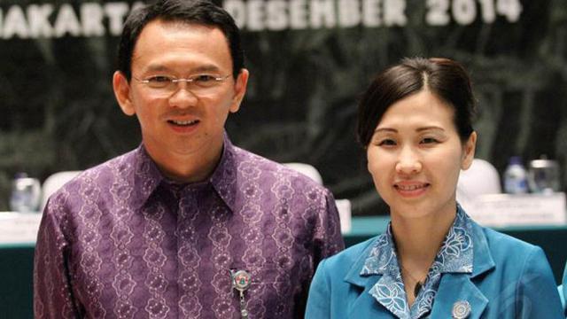 Mantan Gubernur DKI Jakarta Basuki Tjahaja Purnama dan Istri Veronica Tan