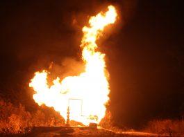 Kebakaran sumur minyak di Aceh
