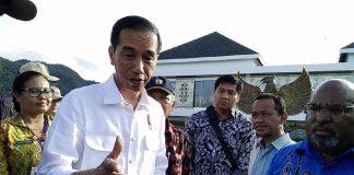 Presiden RI Jokowidodo Saat Melakukan Kunjungan Ke Jayapura Papua