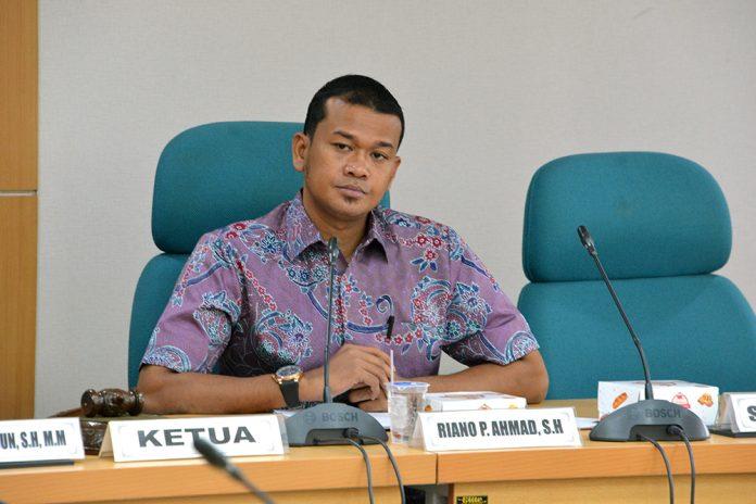 Ketua Komisi A DPRD DKI, Riano P Ahmad, saat di temui di DPRD DKI, Jakarta, Rabu (11/4/2018).