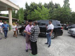Ketua Umum (Ketum) PSSI, Edy Rahmayadi, dan Mantan Ketum PSSI Djohar Arifin