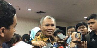 Ketua KPK Agus Rahardjo saat diwawancarai awak media