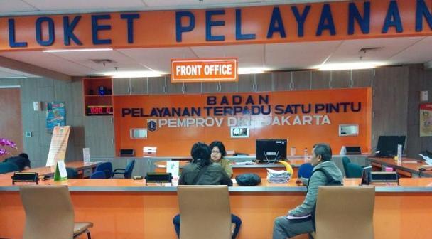 Loket DPMPTSP Provinsi DKI Jakarta.
