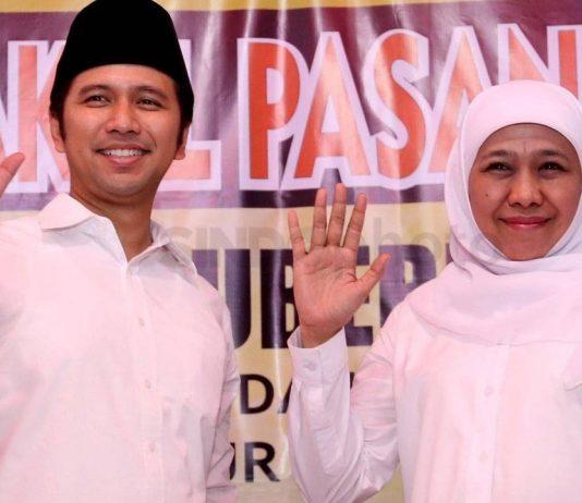 Bakal calon gubernur dan wakil gubernur Jatim, Khofifah Indar Parawansa - Emil Dardak