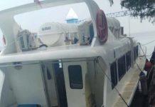 Kapal Dishub DKI yang Meledak di Kepulauan Seribu