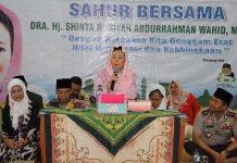 Istri presiden keempat Abdurrahman Wahid atau Gus Dur, Shinta Nuriyah
