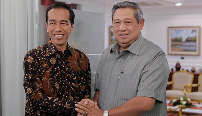 Presiden RI Jokowidodo Dan Ketua Umum Partai Demokrat SBY