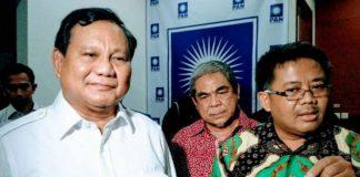 Ketua Umum Partai Gerindra Prabowo Subianto dan Presiden PKS Sohibul Iman