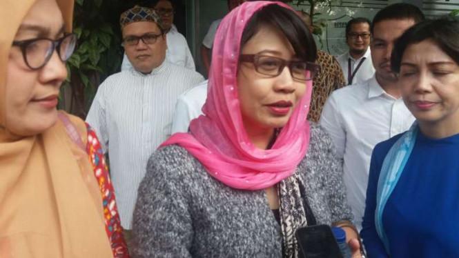 Susi Ferawati Saat di Polda Metro Jaya