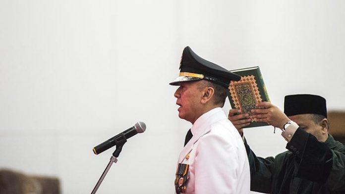 M Iriawan saat dilantik menjadi Penjabat Gubernur Jawa Barat
