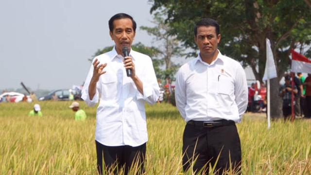 Presiden RI Jokowidodo dan Mentan