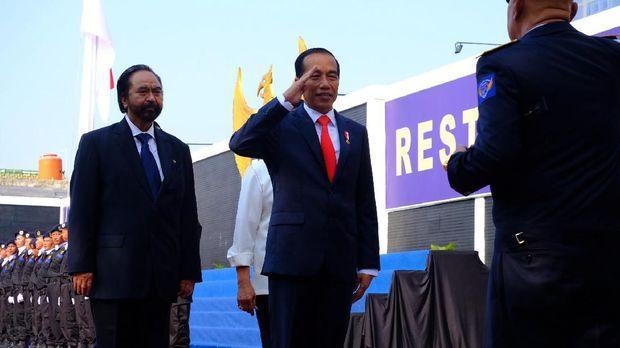 Jokowi Saat Menghadiri Kuliah Umum Akademi Bela Negara NasDem