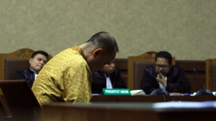 Sidang terdakwa kasus BLBI, Syafruddin Arsyad Temenggung di Pengadilan Tipikor.