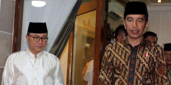 Presiden RI Jokowidodo dan Ketum PAN Zulkifli Hasan