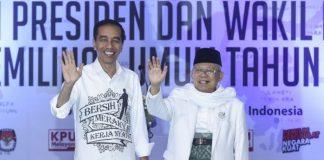 Pasangan Capres-Cawapres Joko Widodo dan Maruf Amin