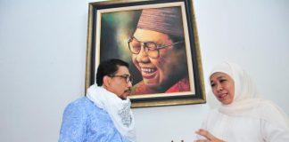 Machfud Arifin bersama Gubernur Jawa Timur, Khofifah Indar Parawansa.
