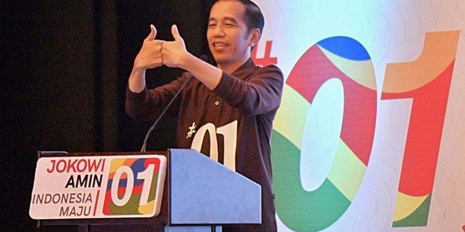 Salam satu jempol ala Jokowi