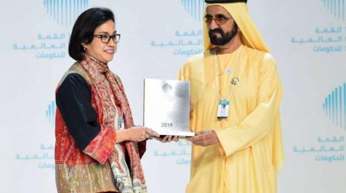 Menteri Keuangan Sri Mulyani Indrawati dinobatkan sebagai menteri terbaik dunia versi World Government Summit.